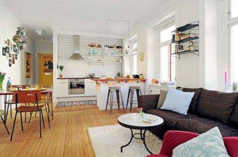 Open Floor Plan Kitchen Living Room