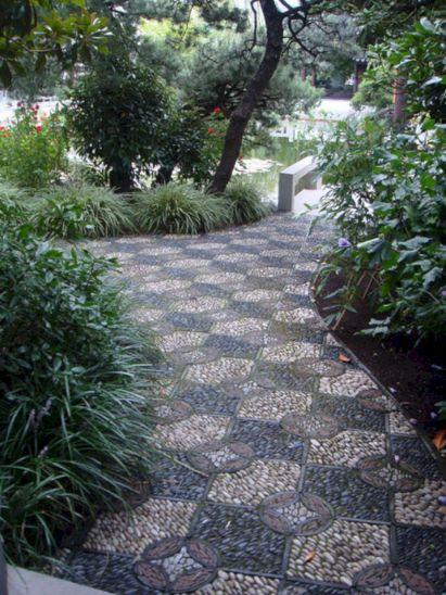 River Rock Mosaic Garden Path