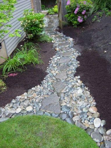 River Rock Walkway Ideas