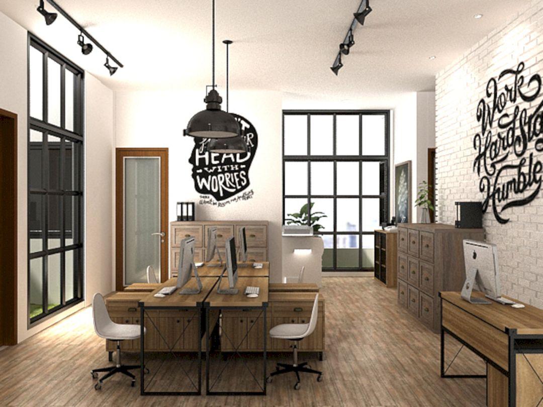 industrial office. Rustic Industrial Office Design