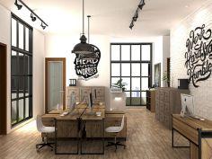 Rustic Industrial Office Design
