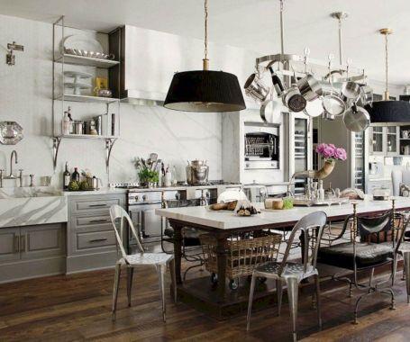 Kitchens with Pot Racks Hangings