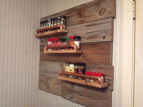 Rustic Spice Racks Wall Mounted