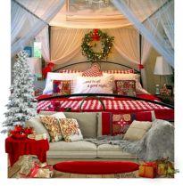 Beautiful Christmas Bedroom Decor