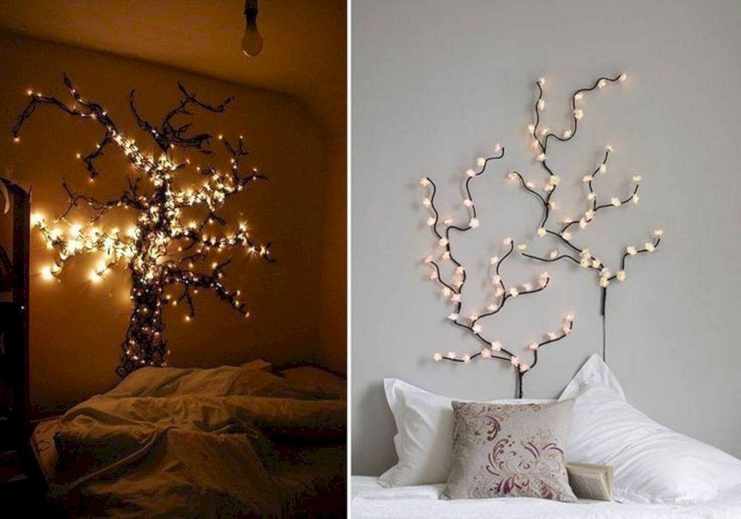 Beautiful Fairy Lights Bedroom Idea