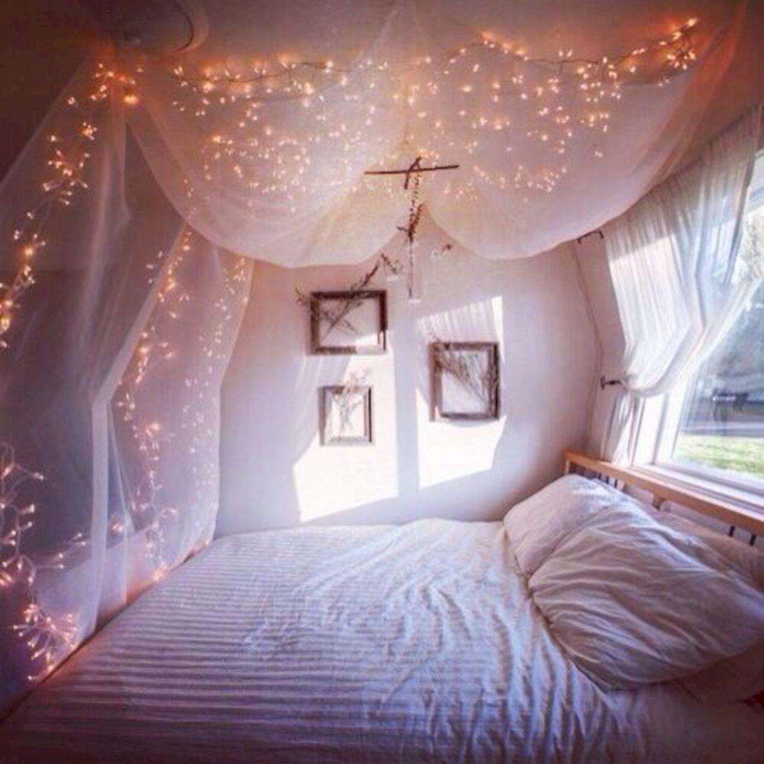 Room Decor Ideas With Fairy Lights Cute Girl Bedroom Ideas Tumblr