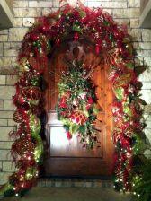 Front Door Christmas Decorating Design Idea