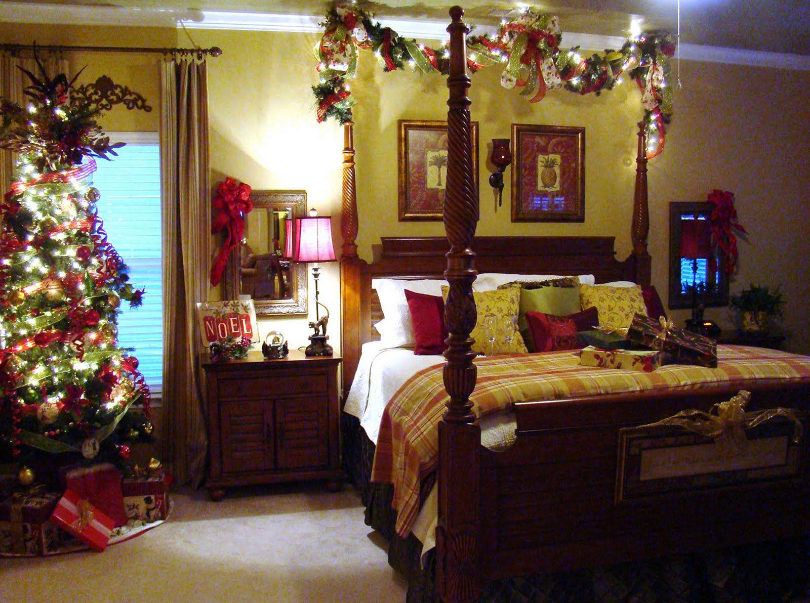 surprising christmas bedroom decorations ideas | Master Bedroom Decorating Ideas Christmas – DECOREDO