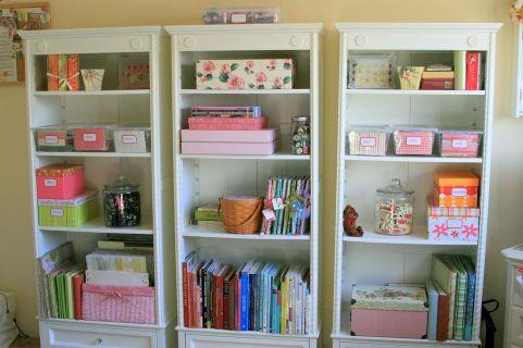 Craft Room Storage Shelves