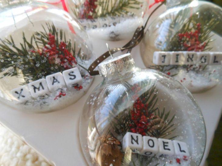 DIY Clear Christmas Ornaments