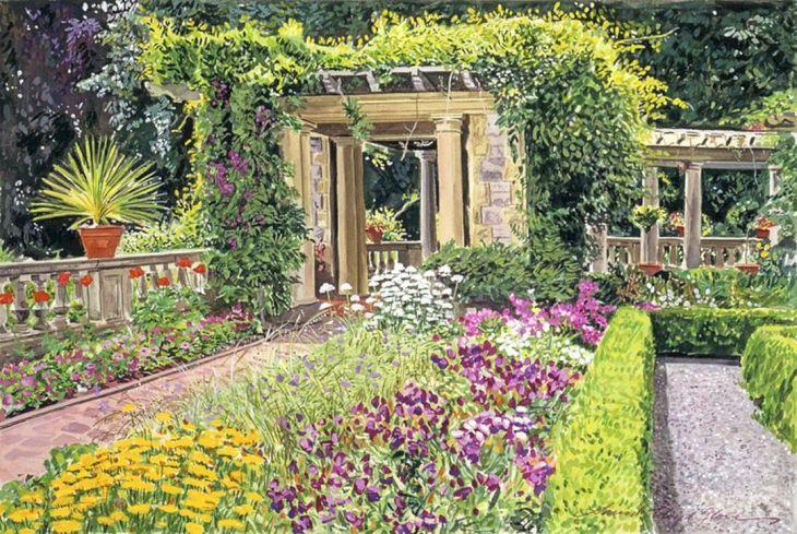 Italian Garden Paintings