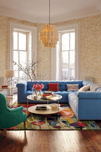 Living Room Floral Rug