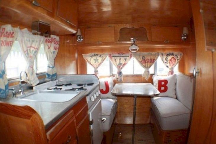 Small Vintage Camper Trailer Interiors