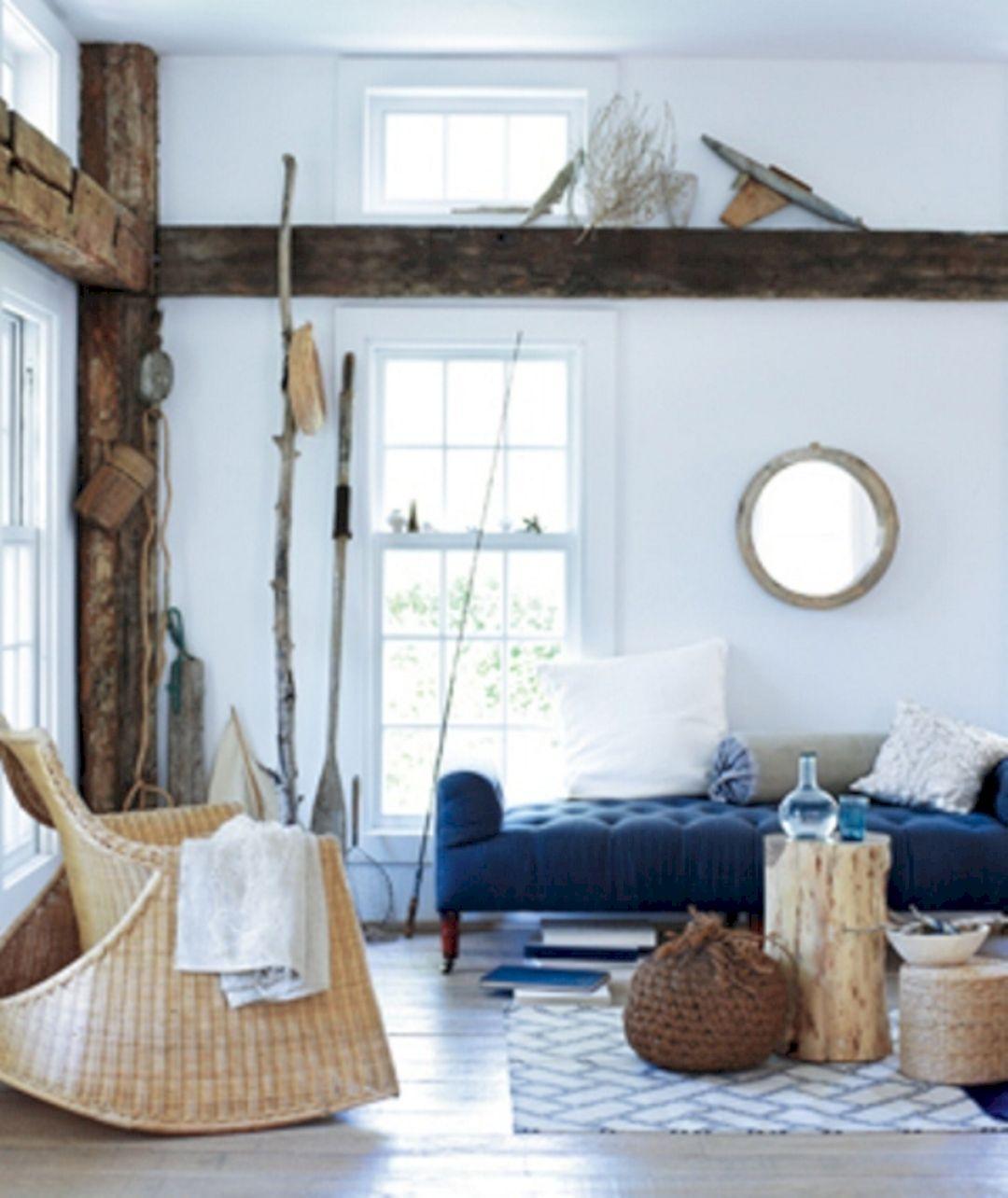 Beach Inspired Room Decor & 25+ Unique Rustic Coastal Nautical Living Room Ideas For Amazing ...
