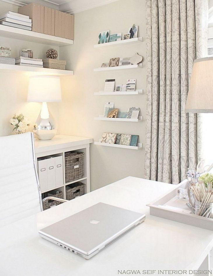 Benjamin Moore White Home Office