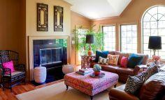 Bohemian Living Room Interior Design Ideas