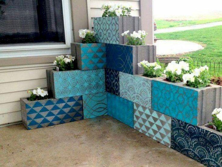 Cinder Block Garden Wall Idea