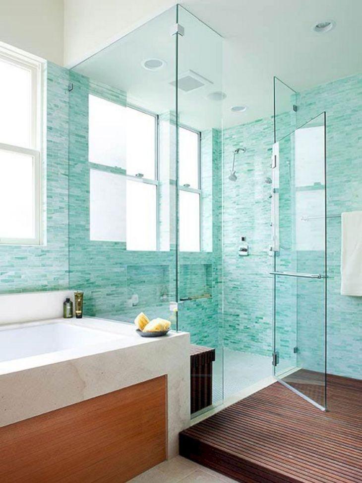 Glass Tile Design Ideas Bathroom Showers