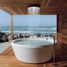 Japanese Soaking Tub with Shower