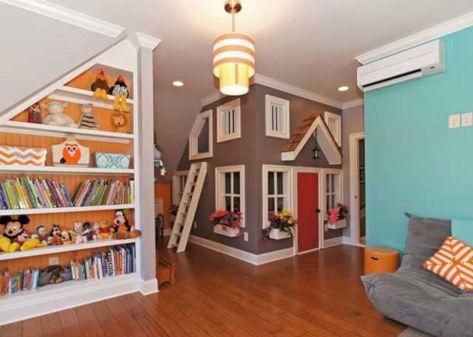 Kids Basement Playroom Design Idea