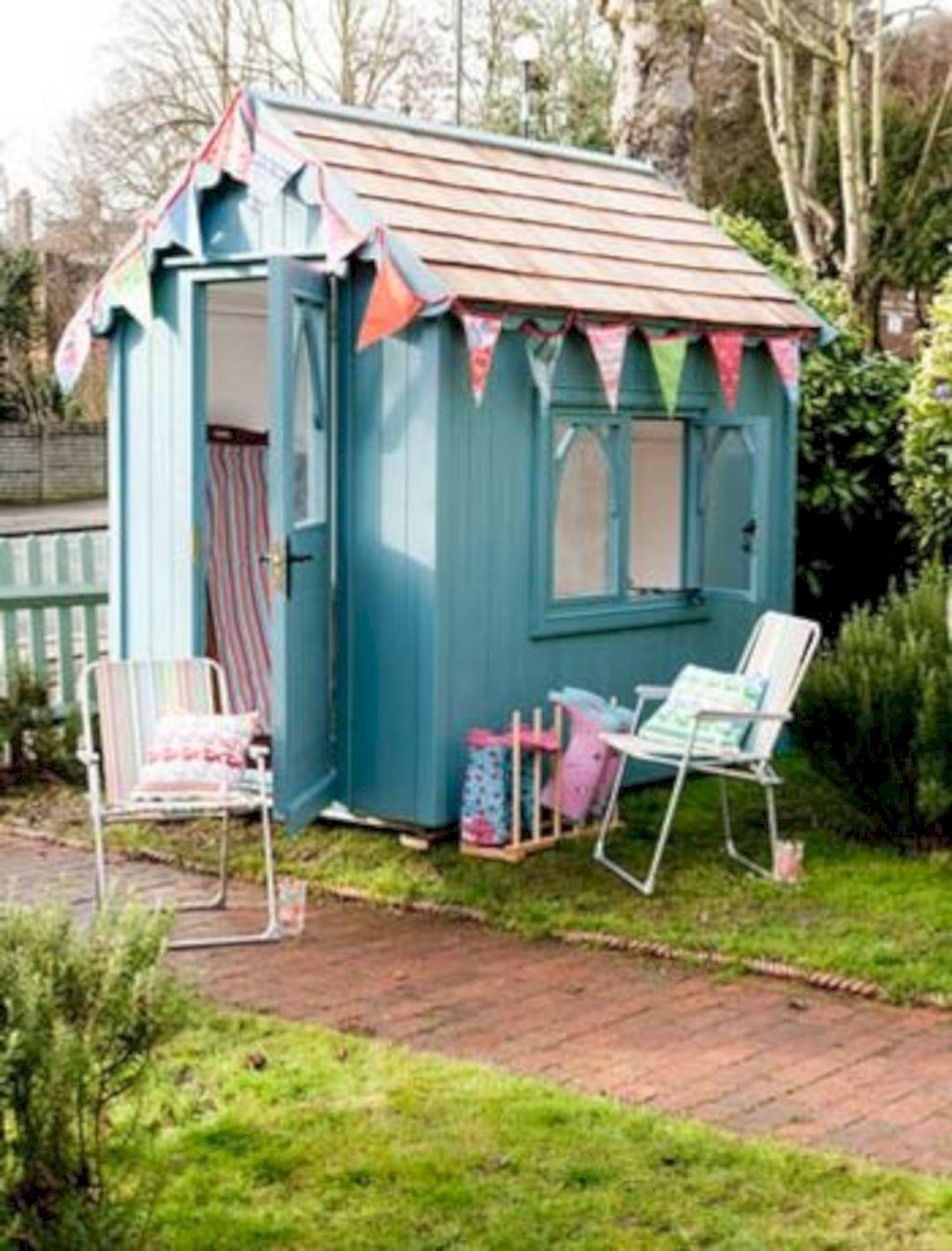 Painted Garden Shed Ideas Decoredo