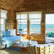 Small Beach House Coastal Living Rooms
