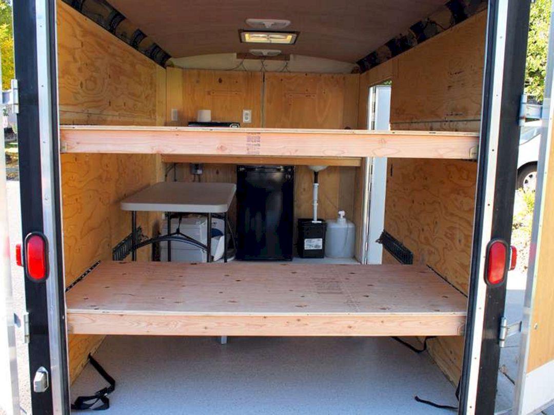 7 X 14 Enclosed Cargo Trailer Camper Conversion DECOREDO