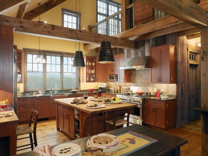 Country Farmhouse Kitchen Design Idea