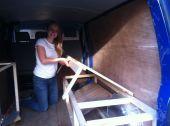 DIY Camper Van Bed
