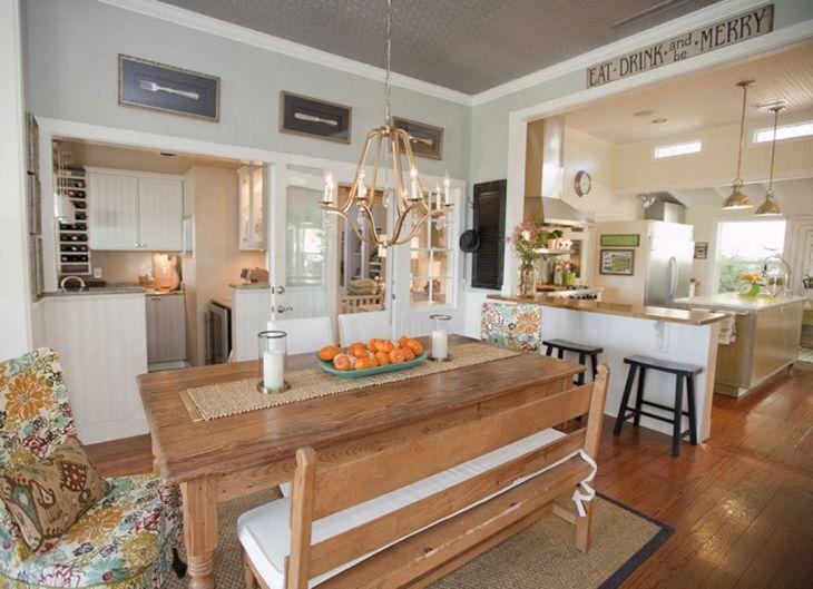 Farmhouse Kitchen Table Decorating Ideas