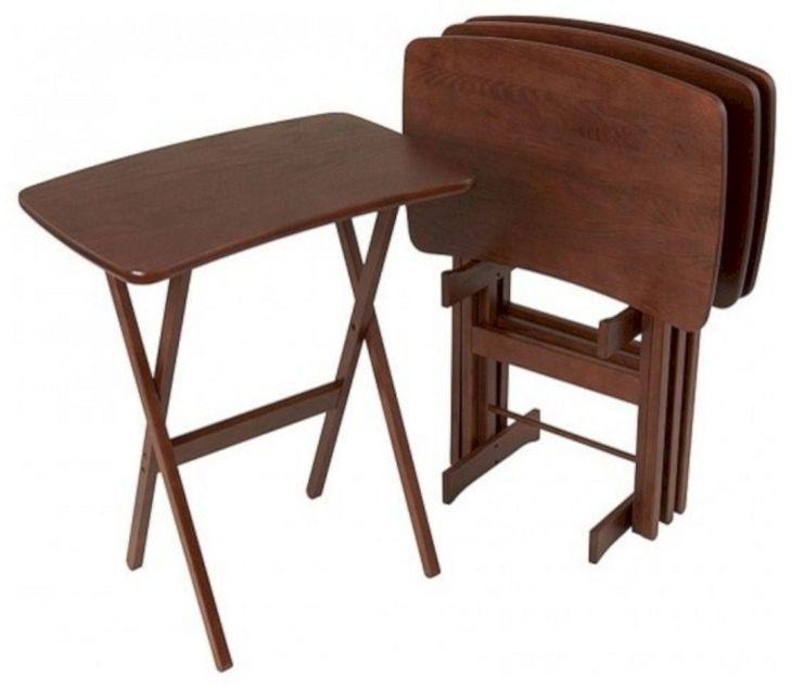 Folding TV Tray Table Set