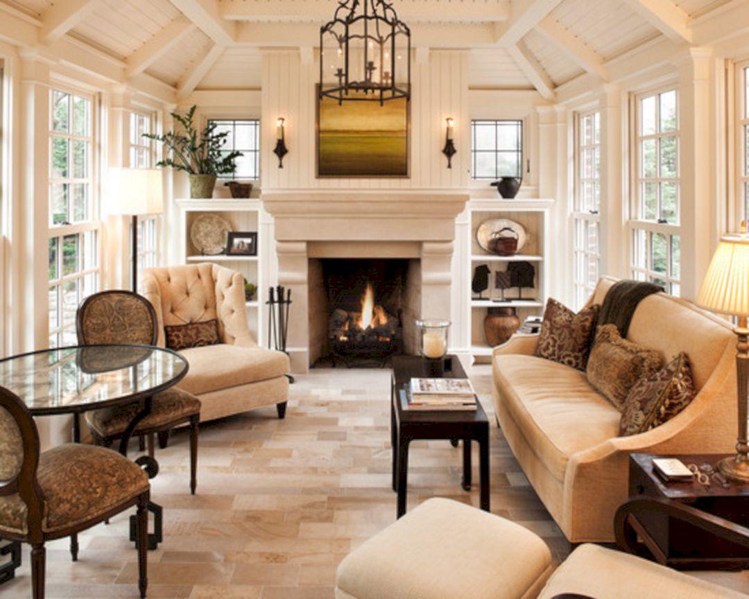 Four Season Rooms Designs With Fireplace Decoredo