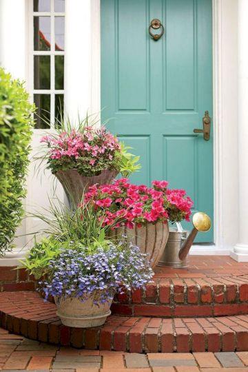 Front Door Plant Pots with Flowers
