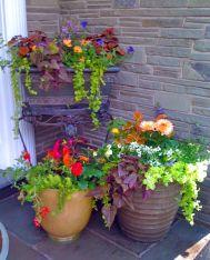 Front Porch Flower Pot Ideas Design