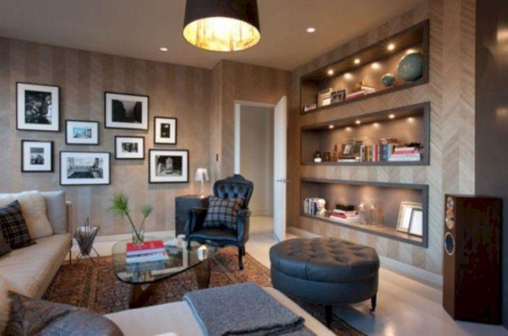 Living Room Built in Wall Shelves