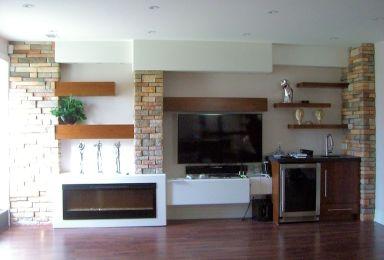 Living Room Fireplace Wall Design Ideas