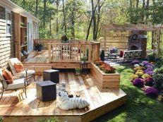 Small Backyard Deck Design Idea