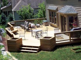 Small Backyard Deck Designs Ideas