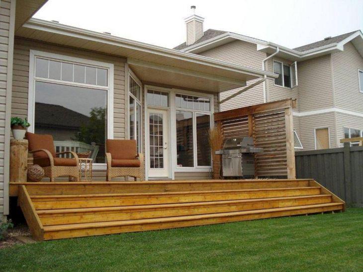 25 Beautiful Backyard Wooden Deck Design Ideas That You ...