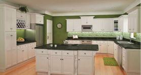 White Shaker Kitchen Cabinets Design