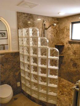 Bathroom Glass Block Shower Ideas 11