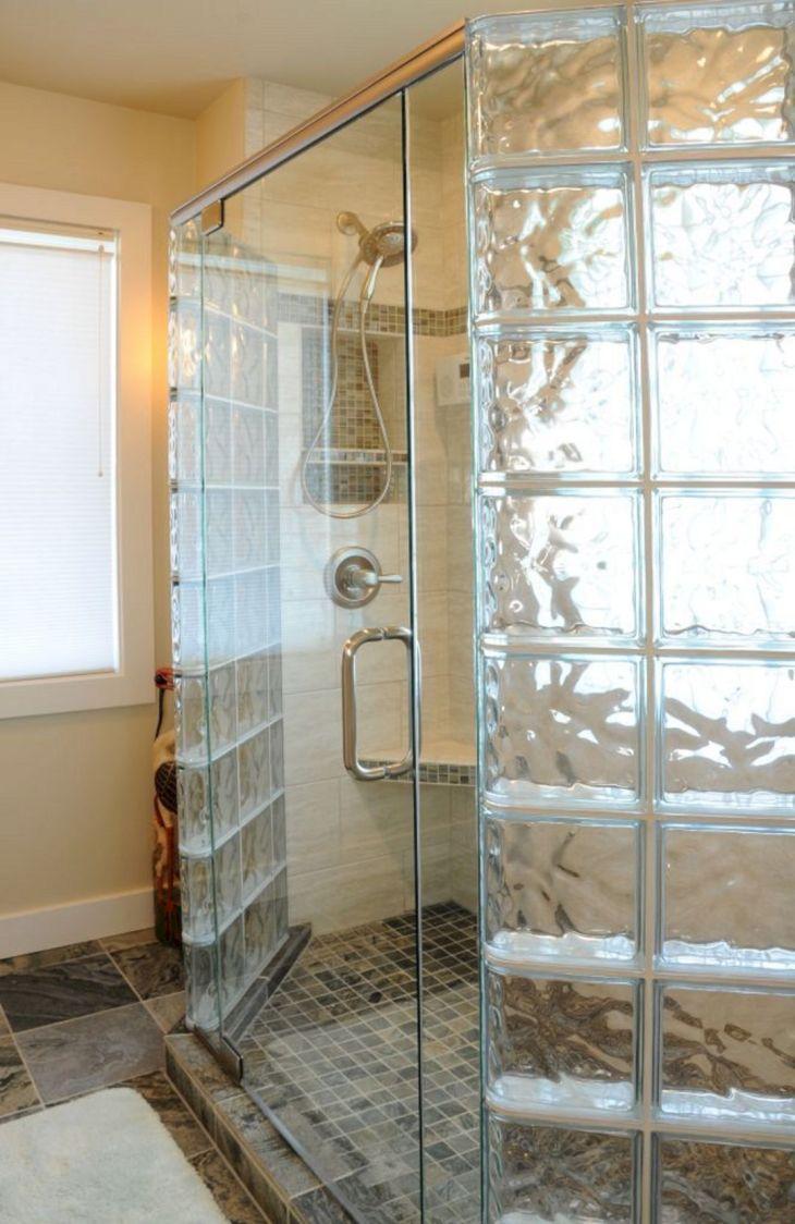 Bathroom Glass Block Shower Ideas 14