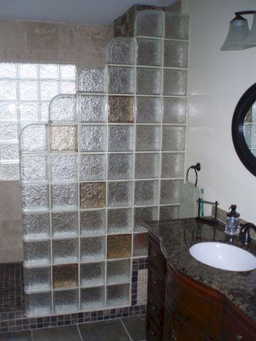 Bathroom Glass Block Shower Ideas 21