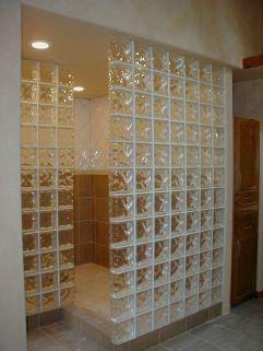 Bathroom Glass Block Shower Ideas 26