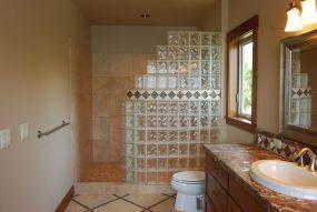 Bathroom Glass Block Shower Ideas 4