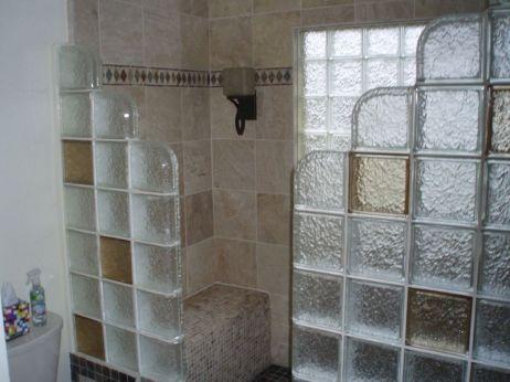 Bathroom Glass Block Shower Ideas 5
