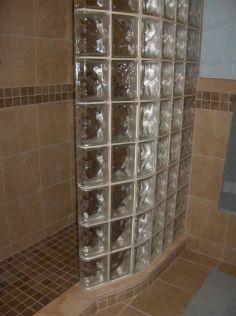 Bathroom Glass Block Shower Ideas 9