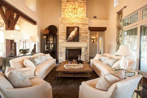 Farmhouse Living Room Fireplace 16