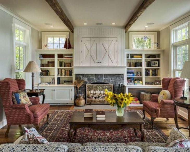 Farmhouse Living Room Fireplace 20