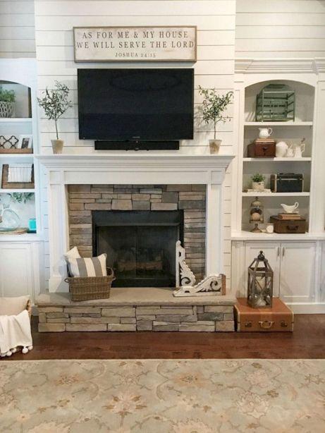 Farmhouse Living Room Fireplace 27